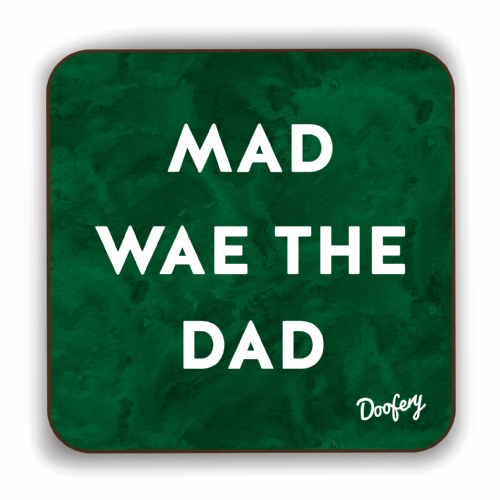 Doofery - Mad Wae The Dad - Coaster - Green